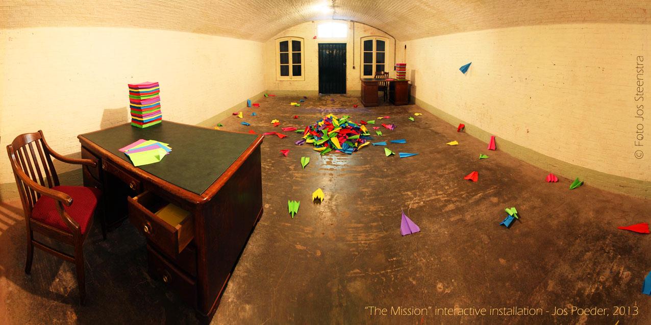 """""""The Mission"""" interactieve installatie van Jos Poeder"""